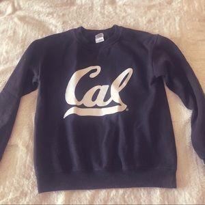 Sweaters - Black and White Cal Crew Neck Sweatshirt